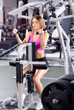 Active woman in gym Royalty Free Stock Images