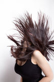 Active woman with hair in motion. Active woman with long hair in motion Stock Photography