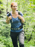 Active Woman Hiking Stock Photos