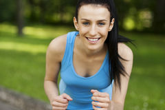 Active woman jogging Royalty Free Stock Photo
