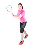Active woman likes to play tennis, portrait player Royalty Free Stock Photos