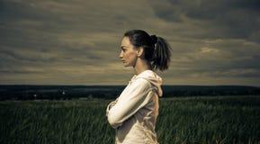Active woman portrait Stock Image