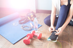 Active woman in sport fitness, Healthy lifestyle concept Stock Images