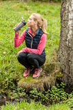 Active woman taking rest Royalty Free Stock Photos