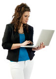 Active woman working Royalty Free Stock Photo