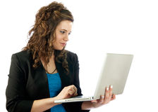 Active woman working Stock Photography
