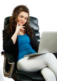 Active woman working Royalty Free Stock Image