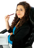 Active woman working Stock Photo