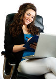 Active woman working Stock Image