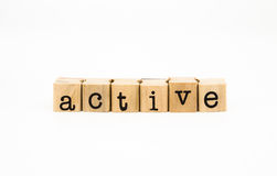 Active wording isolate on white background Royalty Free Stock Photography