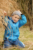 Young boy in garden Stock Photography