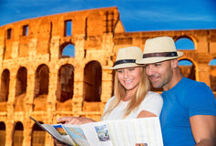 Active young family in Rome Stock Photos