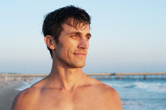 Active young man at the beach Royalty Free Stock Images