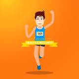 Active young man running and training for marathon sport Royalty Free Stock Image