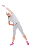 Active young woman doing exercises Royalty Free Stock Image