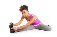 Woman Stretching Her Legs Royalty Free Stock Photo