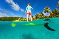Active young woman on vacation Royalty Free Stock Photos