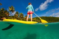 Active young woman on vacation Stock Image