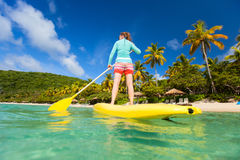 Active young woman on vacation Royalty Free Stock Photo
