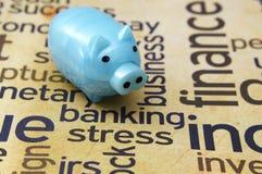 Actividad bancaria de concepto de la tensión Foto de archivo libre de regalías