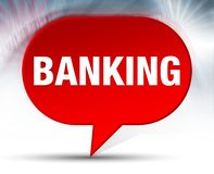 Actividad bancaria del fondo rojo de la burbuja libre illustration