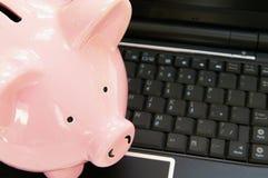 Actividad bancaria en línea Fotografía de archivo
