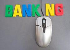 Actividad bancaria en línea: avance en tecnología. Imagen de archivo