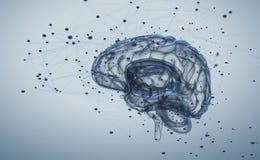 Actividad cerebral Imágenes de archivo libres de regalías