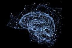 Actividad cerebral Foto de archivo libre de regalías