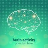 Actividad cerebral humana Foto de archivo