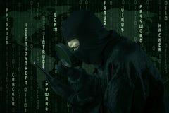 Actividad cibernética del crimen Fotografía de archivo