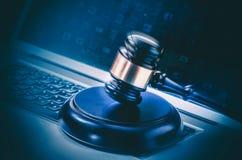 Actividad criminal de Internet en línea Imagen de archivo