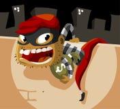 Actividad criminal del ladrón stock de ilustración