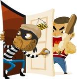 Actividad criminal del ladrón. ilustración del vector
