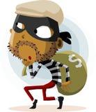 Actividad criminal del ladrón Foto de archivo