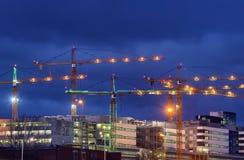 Actividad de edificio en Estocolmo central Imagen de archivo