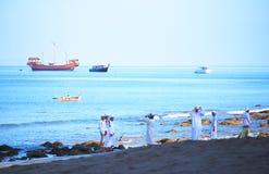 Actividad de la playa Fotografía de archivo libre de regalías