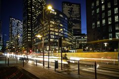 Actividad de noche de Norc en la ciudad Fotografía de archivo