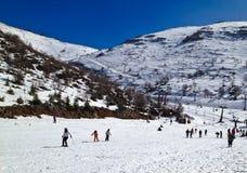 Actividad del esquí Fotos de archivo