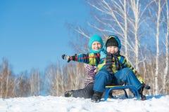 Actividad del invierno Foto de archivo libre de regalías