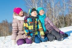 Actividad del invierno fotografía de archivo