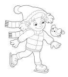 Actividad del invierno - página del colorante Fotos de archivo libres de regalías