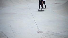 Actividad del patinador del rodillo almacen de metraje de vídeo