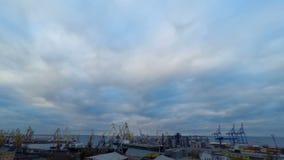 Actividad del puerto de comercio del mar metrajes