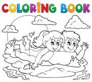 Actividad 1 del verano del libro de colorear Imagenes de archivo