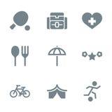 Actividad determinada del icono gris Imágenes de archivo libres de regalías