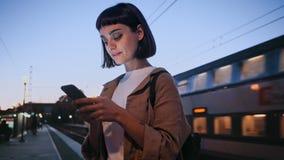 Actividad en tren almacen de video