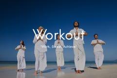 Actividad física del ejercicio del entrenamiento que entrena a concepto cardiio Imagen de archivo
