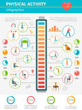 Actividad física Infographic Imágenes de archivo libres de regalías