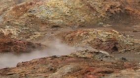 Actividad geotérmica en Islandia almacen de video